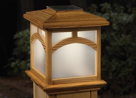 Solar Decorative Post Caps for Wood Posts